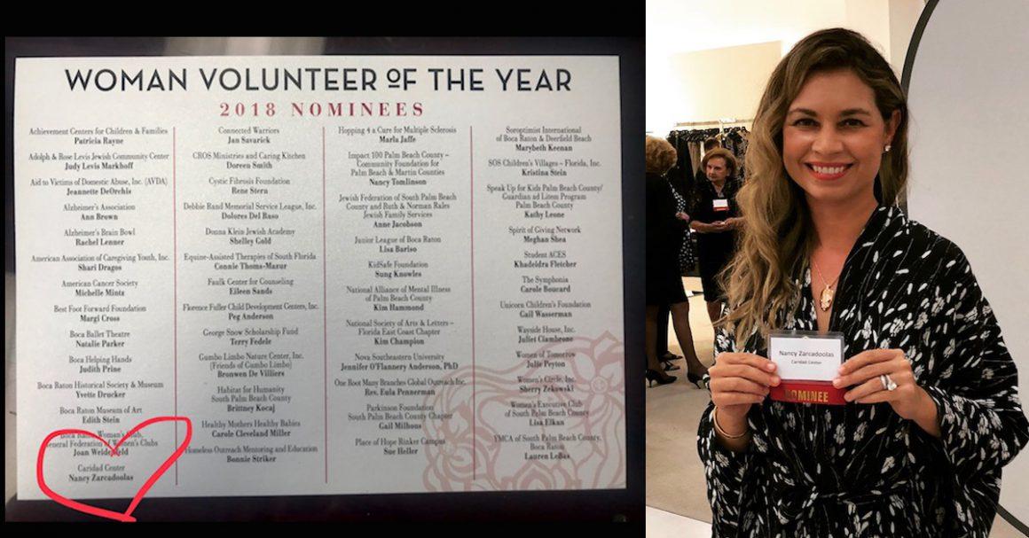 2018 Boca Raton's Woman Volunteer of the Year Nominee