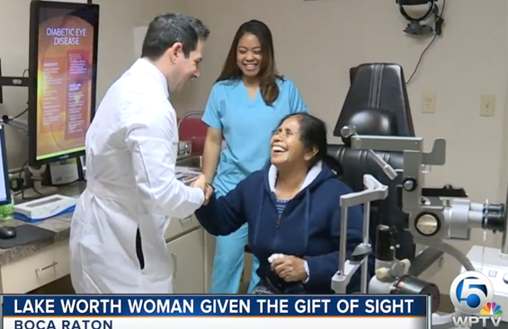 Caridad Patient given the gift of sight after free surgery in Boca Raton